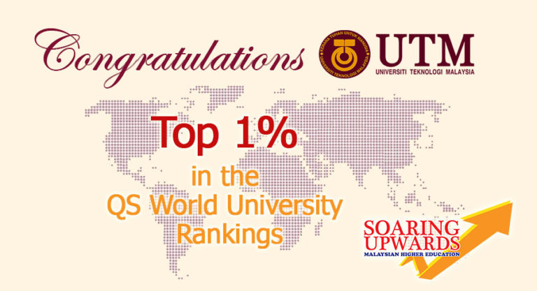 UTM ranked in the top 1% in the QS World University Rankings 2017/2018